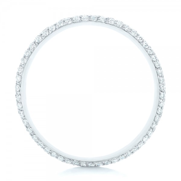 Custom Diamond Eternity Wedding Band - Finger Through View