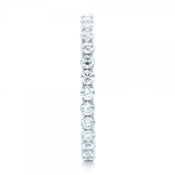 Custom Diamond Eternity Wedding Band - Side View