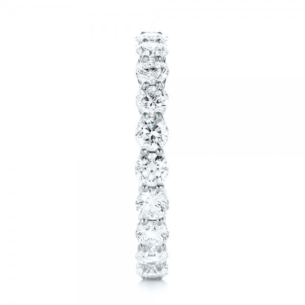 Custom Diamond Eternity Wedding Band - Side View