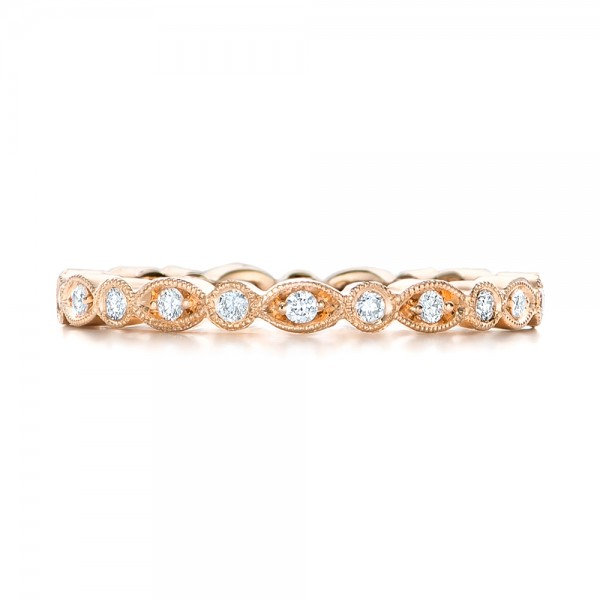 Custom Diamond Eternity Wedding Band - Top View