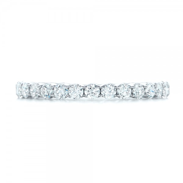 Custom Diamond Eternity Wedding Band - Top View