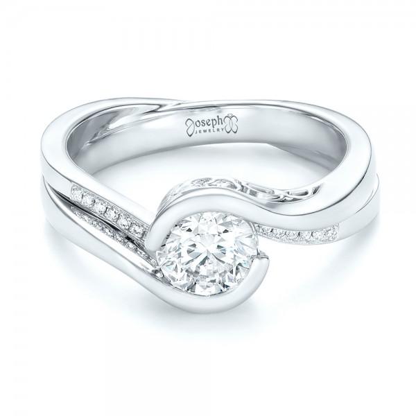 Custom Diamond Jacket Wedding Band - Laying View
