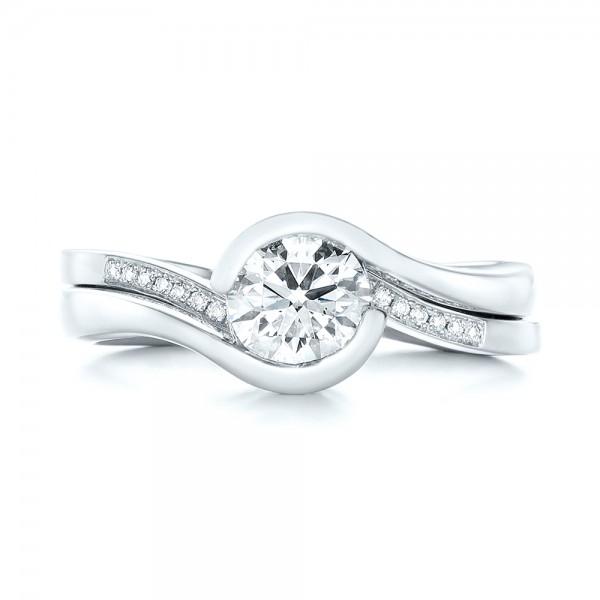 Custom Diamond Jacket Wedding Band - Top View
