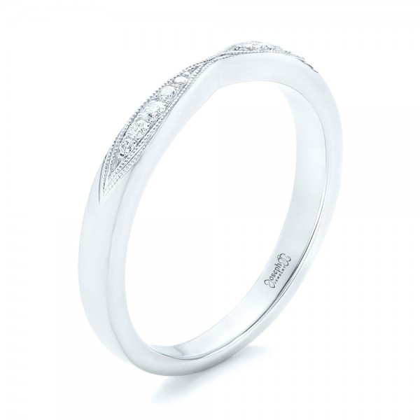 Diamond Notched Wedding Band