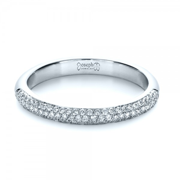 Custom Diamond Pave Engagement Band
