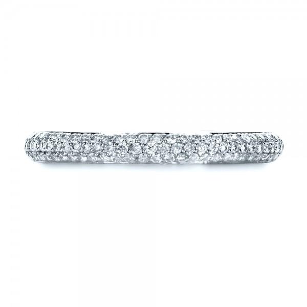 Custom Diamond Pave Engagement Band - Top View