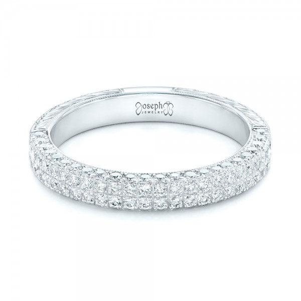 Diamond Pave Wedding Band 102175