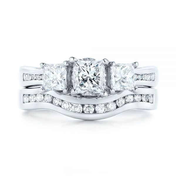 Platinum Custom Diamond Wedding Band -  103136