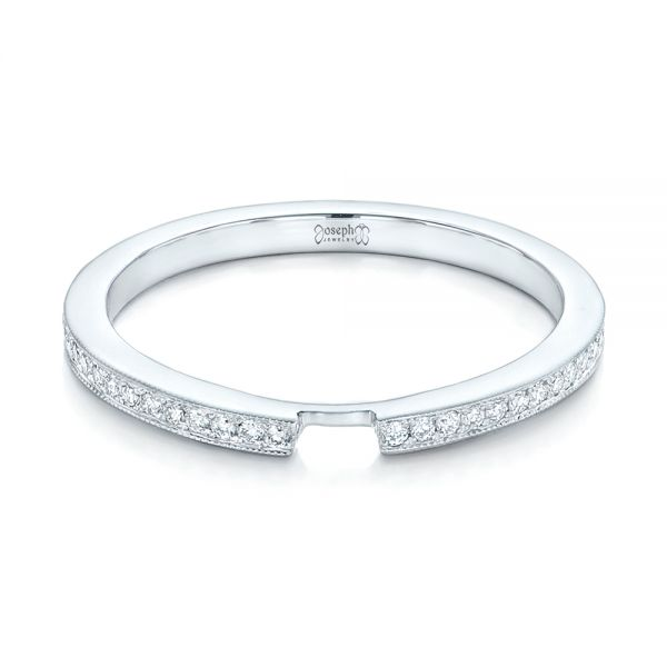 Custom Diamond Wedding Band - Flat View -  102598 - Thumbnail
