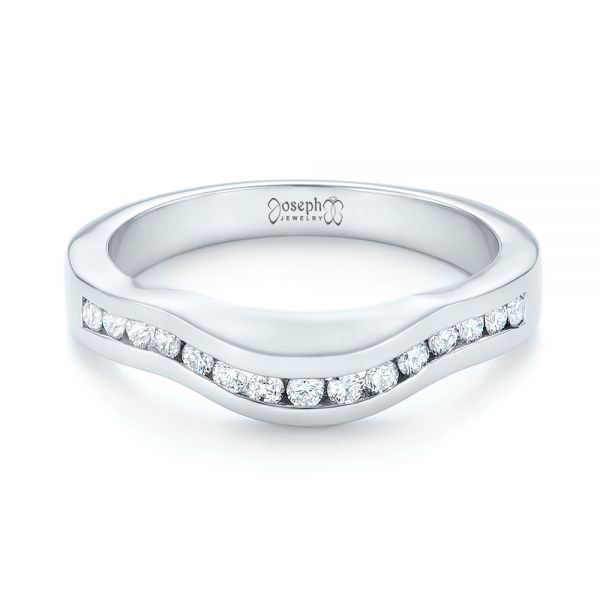 Platinum Custom Diamond Wedding Band - Flat View -  103136