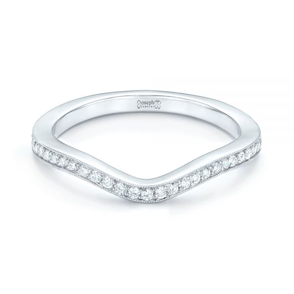 Platinum Custom Diamond Wedding Band - Flat View -