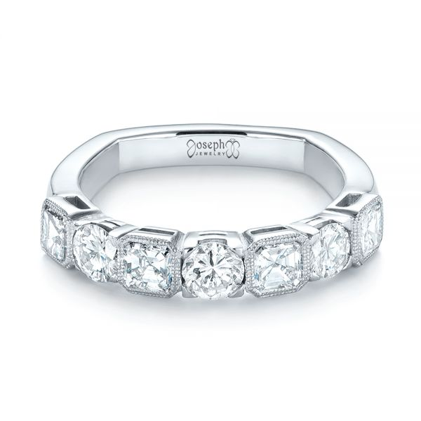 Platinum Custom Diamond Wedding Band - Flat View -  103437