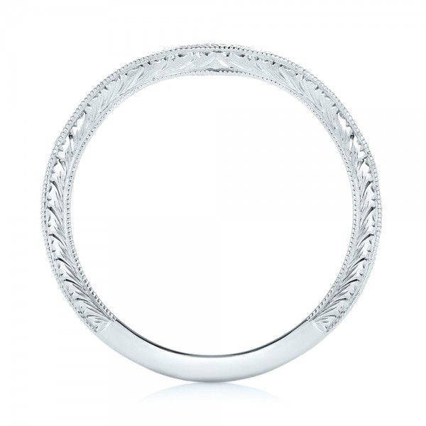Platinum Platinum Custom Diamond Wedding Band - Front View -  103145