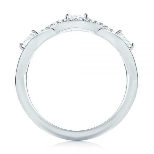 18k White Gold 18k White Gold Custom Diamond Wedding Band - Front View -  103419