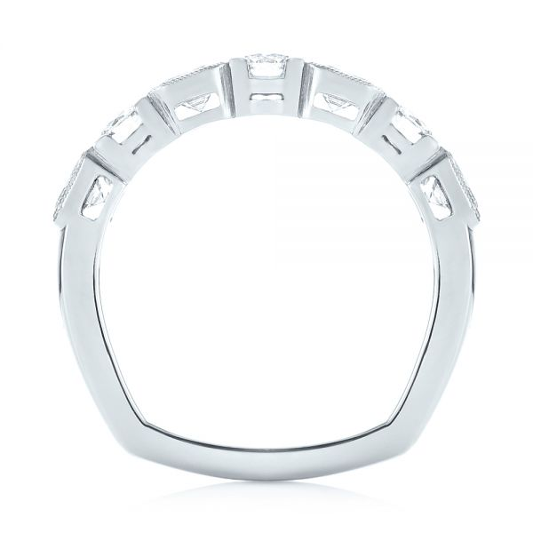 Platinum Custom Diamond Wedding Band - Front View -  103437