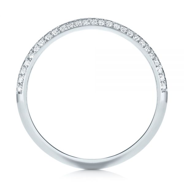 Platinum Custom Diamond Wedding Band - Front View -