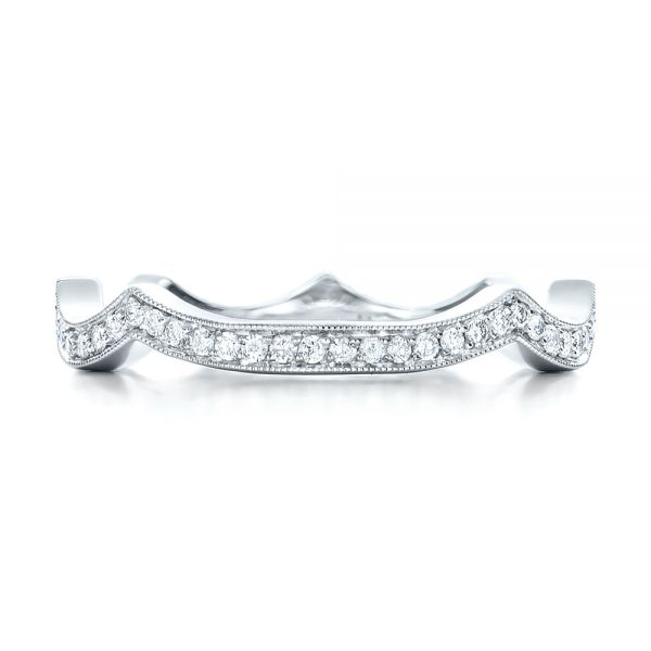 Custom Diamond Wedding Band - Top View -  102121 - Thumbnail