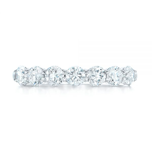 Platinum Custom Diamond Wedding Band - Top View -