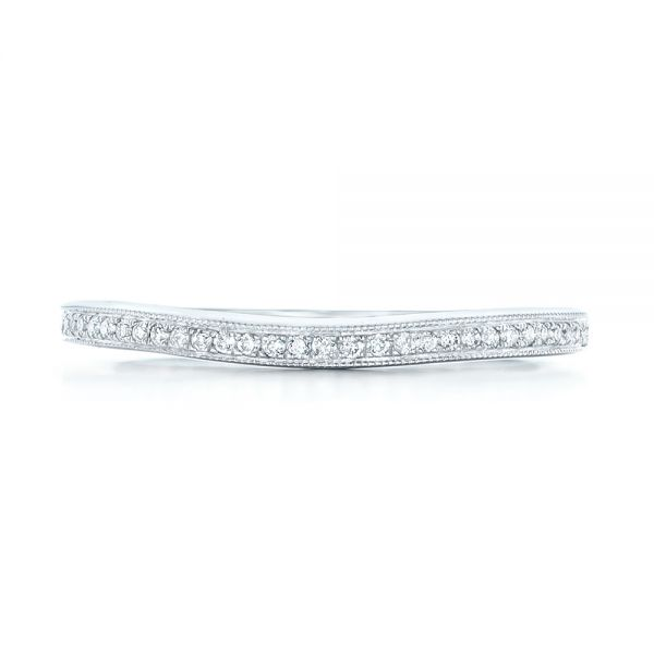 Custom Diamond Wedding Band - Top View -  102811 - Thumbnail