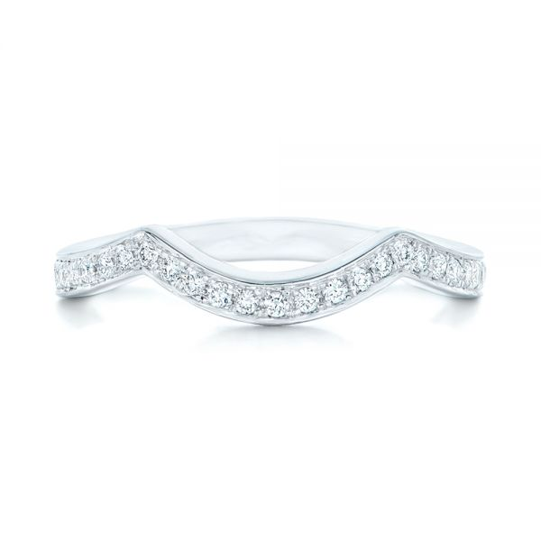 Custom Diamond Wedding Band - Top View -  102837 - Thumbnail