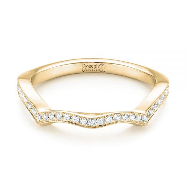 14k Yellow Gold 14k Yellow Gold Custom Diamond Wedding Band - Flat View -  103399