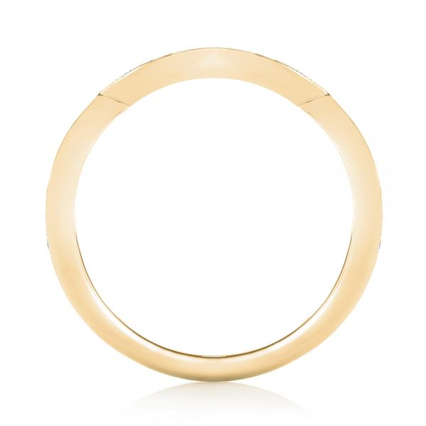 14k Yellow Gold 14k Yellow Gold Custom Diamond Wedding Band - Front View -  103399