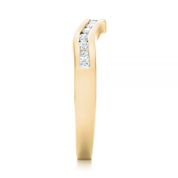 18k Yellow Gold 18k Yellow Gold Custom Diamond Wedding Band - Side View -