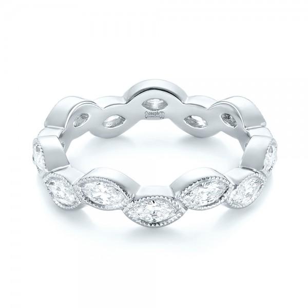 Custom Eternity Diamond Wedding Band - Laying View