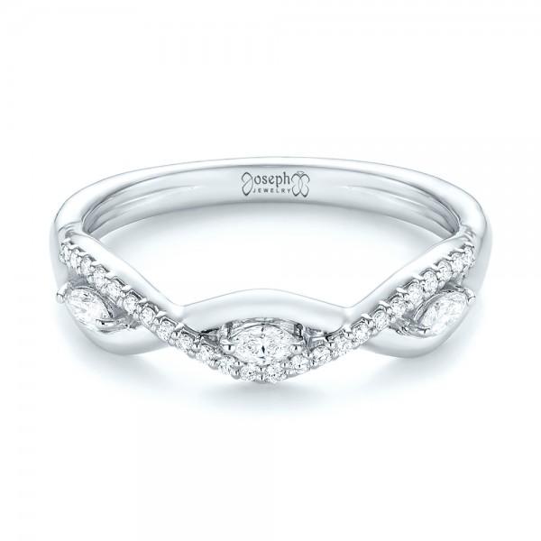 Custom Diamond Wedding Band - Laying View