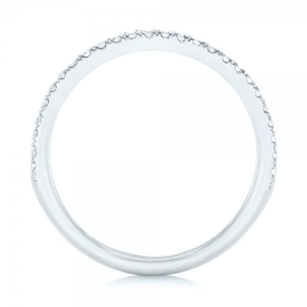 Diamond Wedding Band - Finger Through View