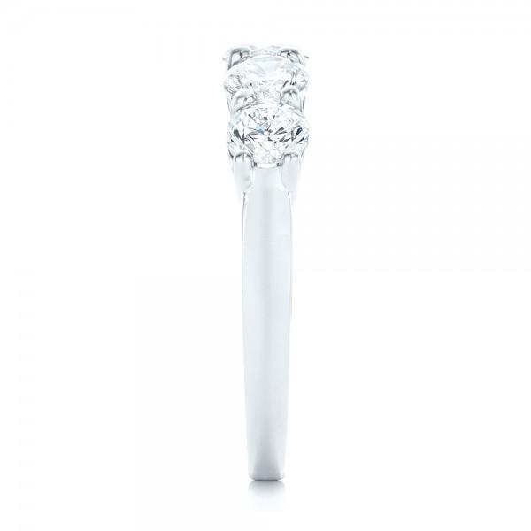 Custom Diamond Wedding Band - Side View