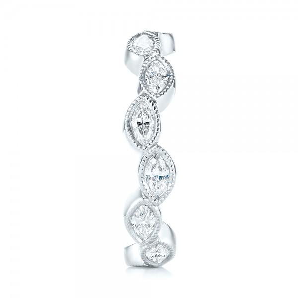 Custom Eternity Diamond Wedding Band - Side View