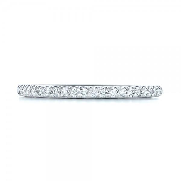 Diamond Wedding Band - Top View