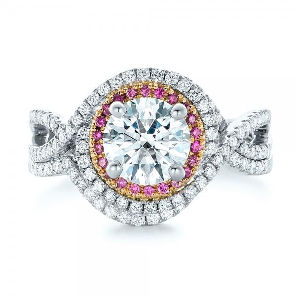 Custom Diamond Wedding Band - Top View