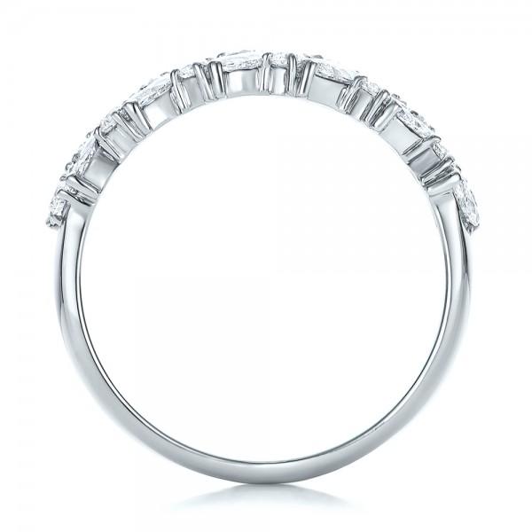 Custom Diamond Wedding Ring - Finger Through View