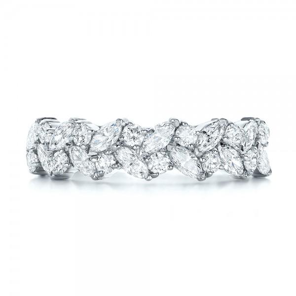 Custom Diamond Wedding Ring - Top View
