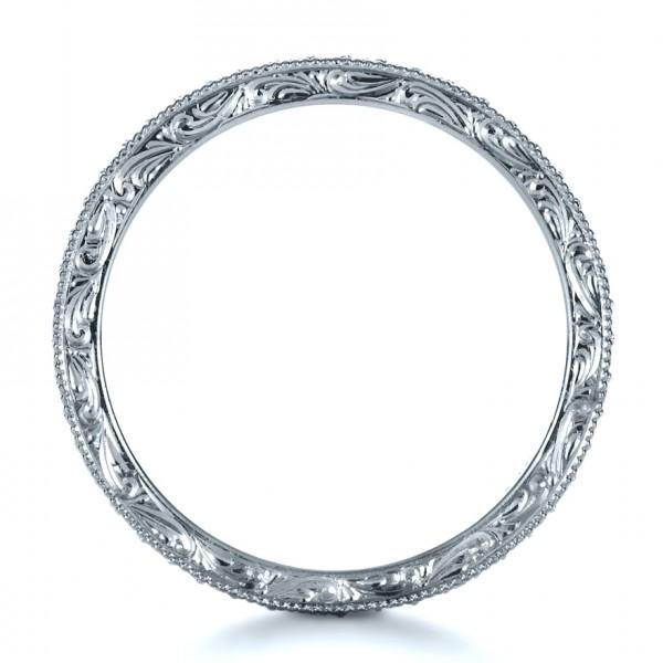 Custom Diamond Women's Eternity Band - Finger Through View