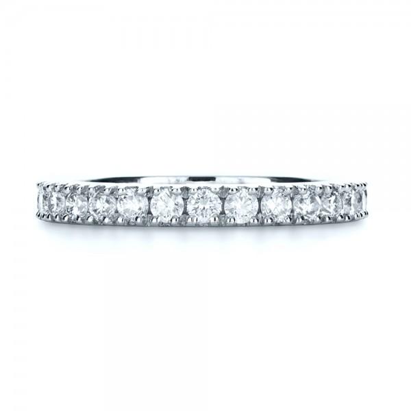 Custom Diamond Women's Eternity Band - Top View