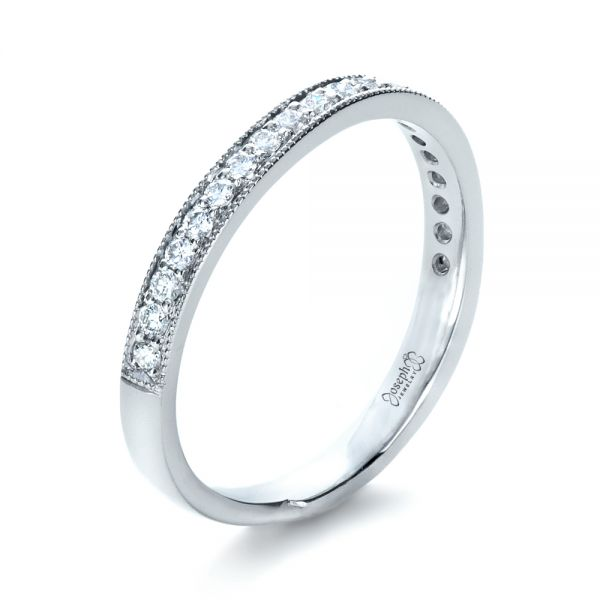 Custom Diamond Women's Wedding Band - Image
