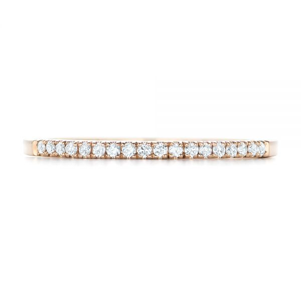 Custom Diamond and Rose Gold Wedding Band - Top View -  102295 - Thumbnail