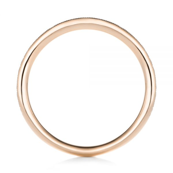 14k Rose Gold 14k Rose Gold Custom Diamond Wedding Band - Front View -