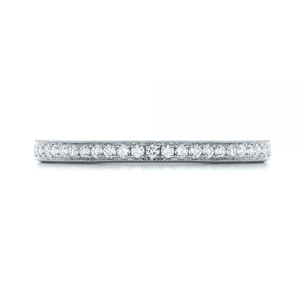 18k White Gold 18k White Gold Custom Diamond Wedding Band - Top View -