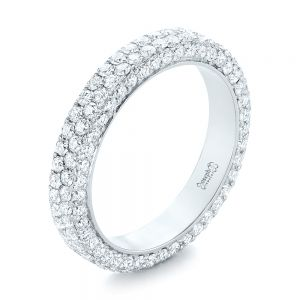 Custom Edge-Less Pave Diamond Eternity Wedding Band