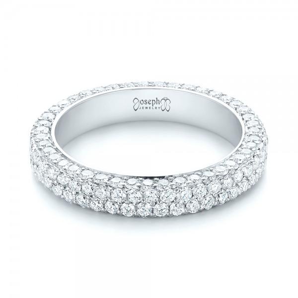 Custom Edge-Less Pave Diamond Eternity Wedding Band - Laying View