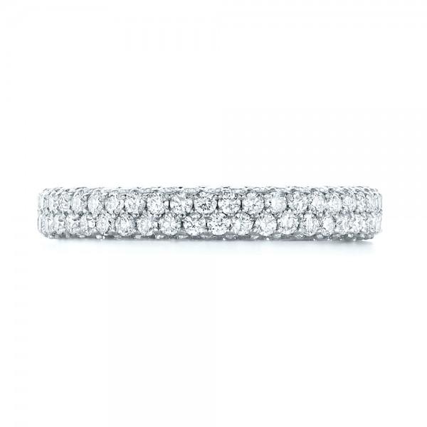 Custom Edge-Less Pave Diamond Eternity Wedding Band - Top View