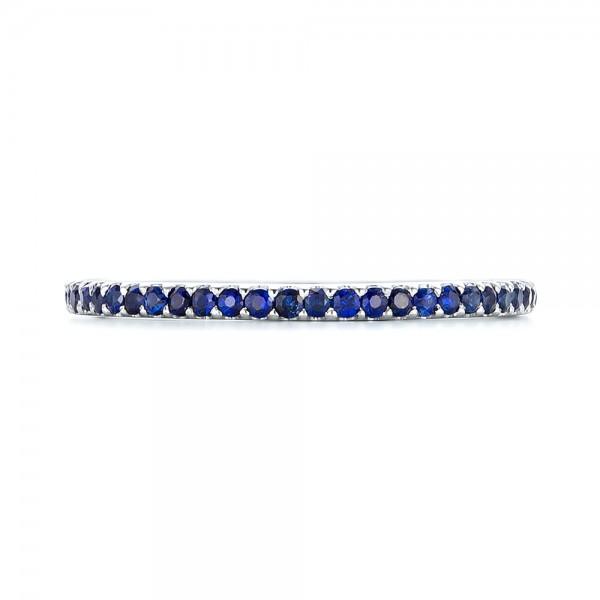 Custom Eternity Blue Sapphire Anniversary Band - Top View