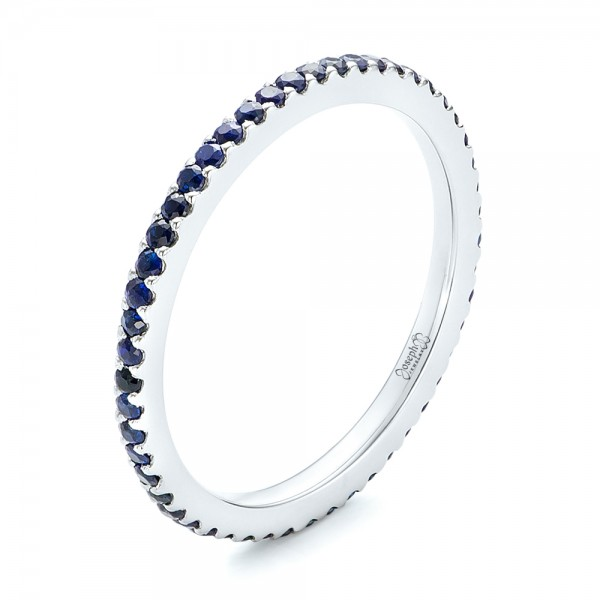 Custom Eternity Blue Sapphire Anniversary Band