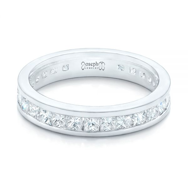 Custom Eternity Diamond Wedding Band - Flat View -  102734 - Thumbnail