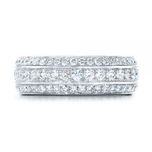 Custom Eternity Diamond Wedding Band - Top View -  102058 - Thumbnail