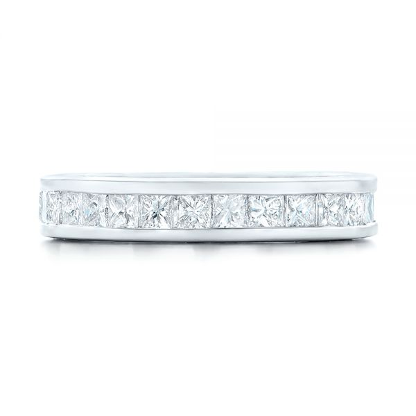Custom Eternity Diamond Wedding Band - Top View -  102734 - Thumbnail